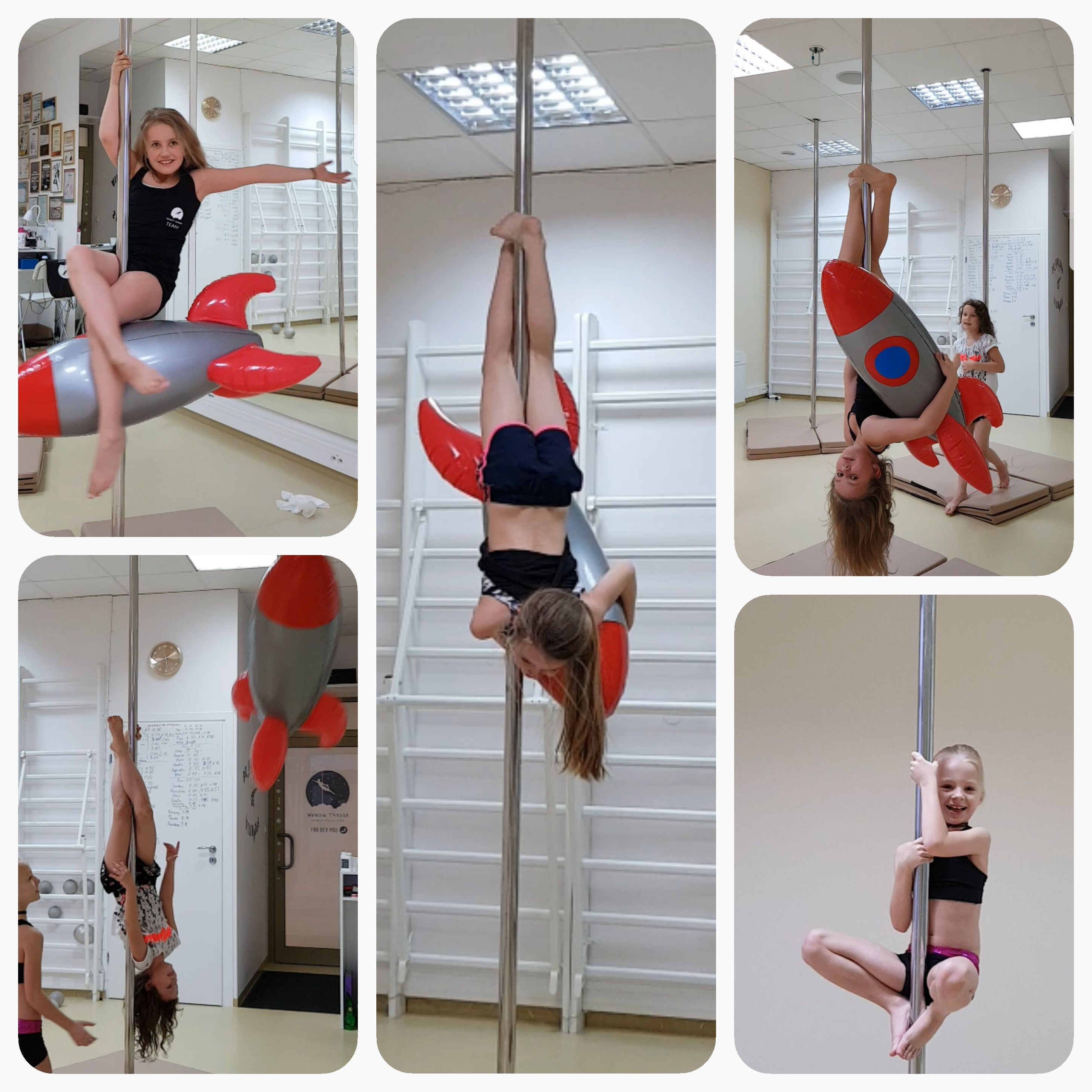 Symbol Rocket Woman Pole Dance School- dmuchana rakietka 💕 🚀