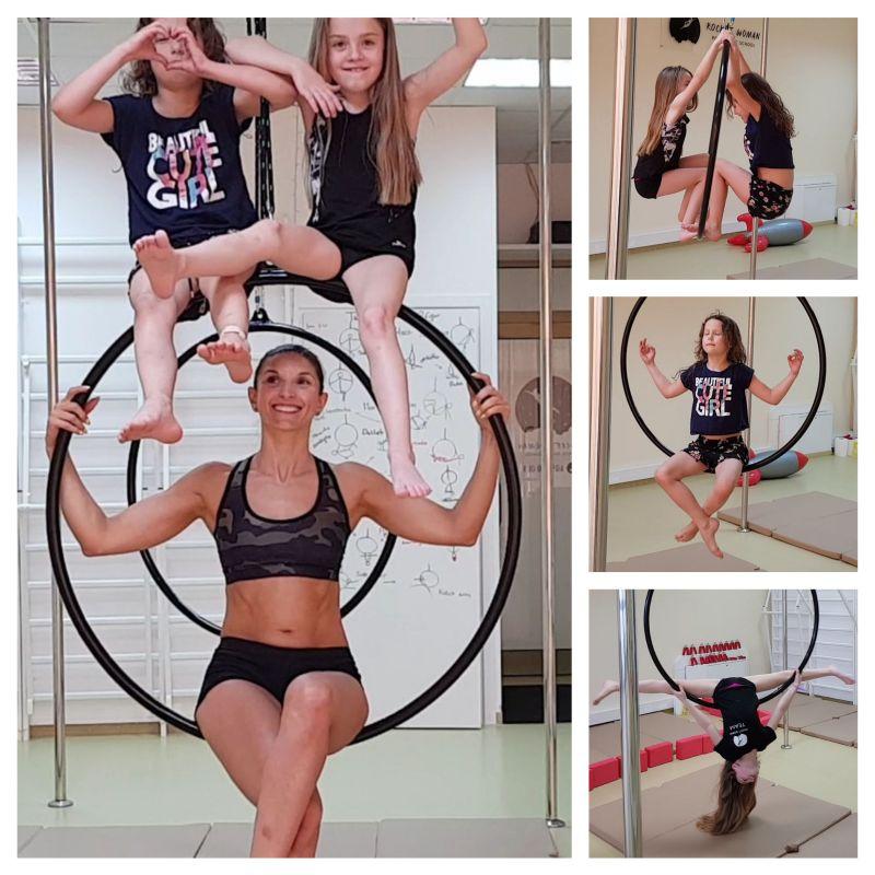 Zajęcia na kołach, czyli aerial hoop, to moc zabawy i radości dla najmłodszych 😇 💖