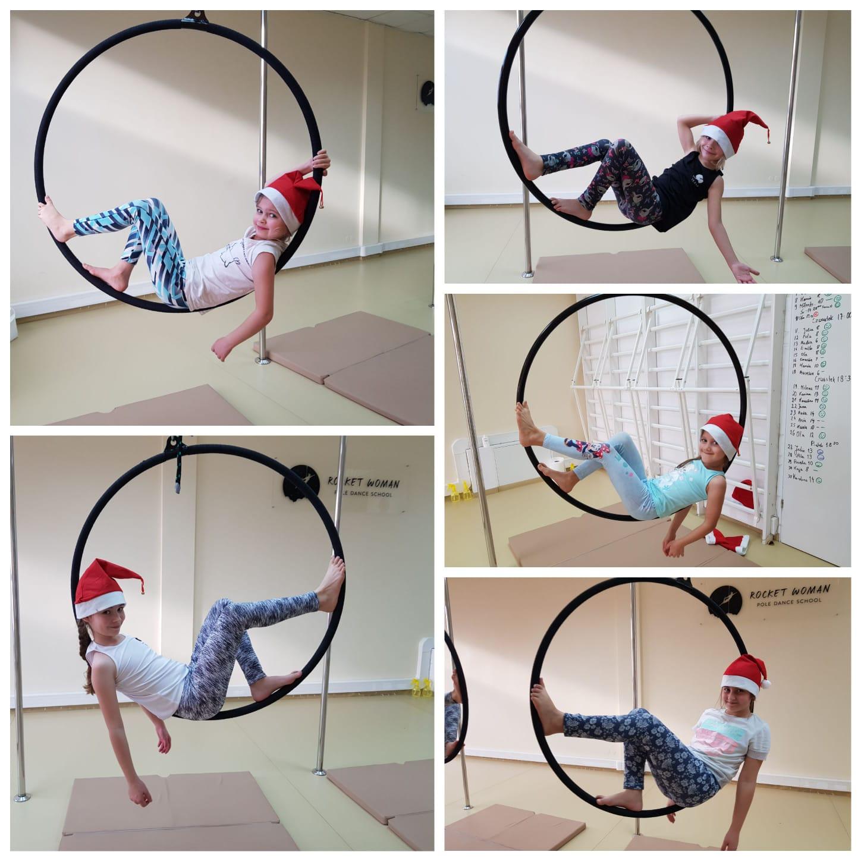Aerial hoop w wersji mikołajkowej 🎅 🙃