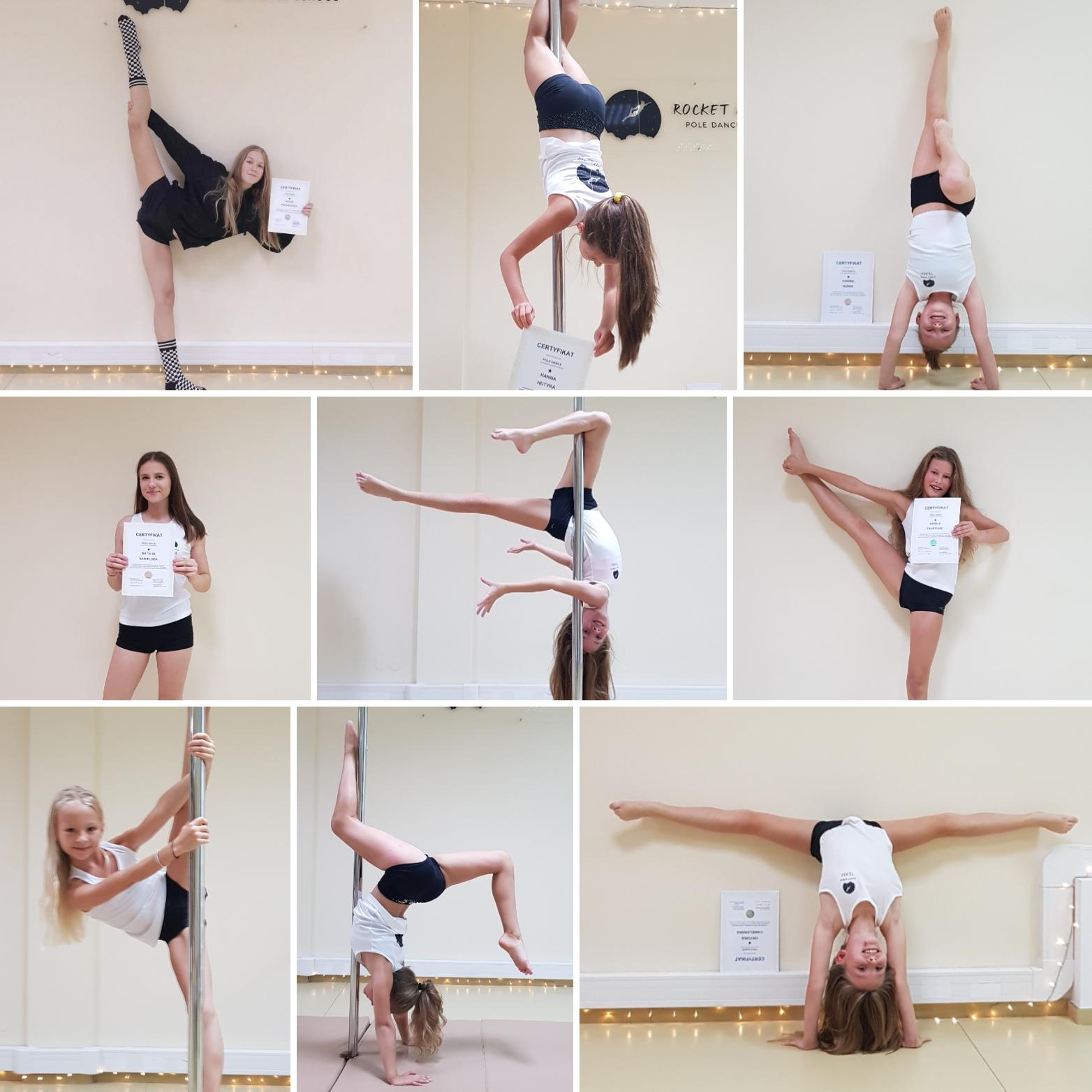 Progress grupy pole dance kids and young na poziom średnio zaawansowany 😊