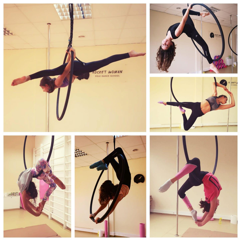 Grupa średnio zaawansowana aerial hoop 🌸 ❤️