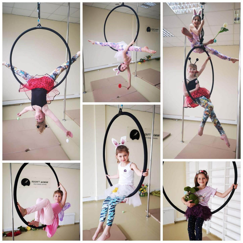 Wiosnę czuć też na zajęciach z aerial hoopu 🌸 🌞