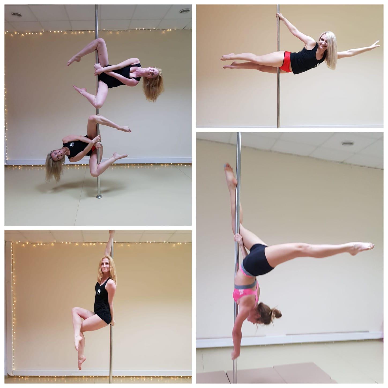 Grupa średnio zaawansowana pole dance i jej figury pokazowe 😊 💕