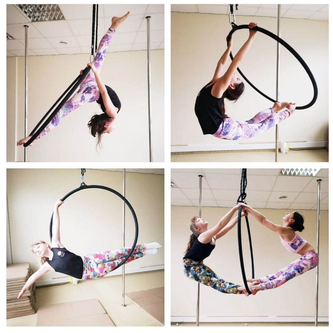 Grupa aerial hoop kids and young 🌸 ❤️
